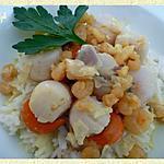 recette Noix de St-Jacques à la crème de Curry