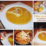 recette Velouté de potiron et ses croustinis aux petits lardons