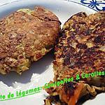 recette Galette de légumes: courgettes & carottes