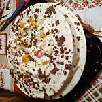 recette gâteau crème au chocolat blanc et au fruits