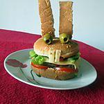 recette Rabbit burger aux crudités