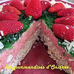 recette Bavarois à la fraise et miroir menthe