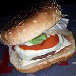 recette Burger tomates mozzarella