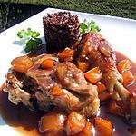 recette Cuisses de canard confites aux abricots et riz noir