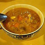 """recette Soupe """"anti-rhume"""" aux lentilles oranges"""