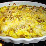 recette Gratin de poisson au curry