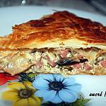 recette Tourte jambon-champignons