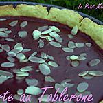 recette °° Tarte au toblerone et pâte sablée au robot °°