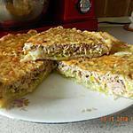 recette Tarte aux poireaux et thon