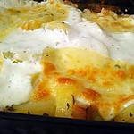 recette Gratin de pomme de terre aux petits suisses chevre mozzarella
