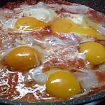 recette oeufs à la tomate et lard