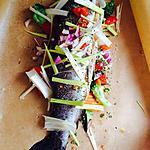 recette truite saumonée au petits légumes
