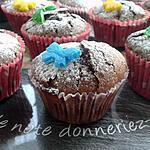 recette petits moelleux papillon, coeur au chocolat blanc