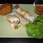 recette Nems au blanc de poulet et sa sauce