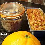 recette CAKE D'été tout léger et vitaminé aux Sons -CAROTTE-ORANGE,AMANDE & Coriandre