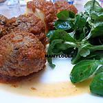 recette Boulettes de Boeuf à la sauce tomates