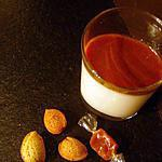 recette PANNA COTTA Légère en Verrines parfumées à l'Amande Vanillée & son Coulis au Caramel Beurre Salé