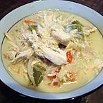 recette Soupe thaïe au poulet et aux nouilles à la mijoteuse