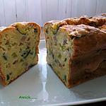 recette cake courgette-chèvre et lardons