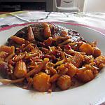 recette steack  mariné   mais haricots chorizo
