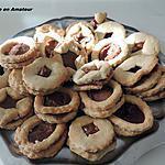 recette Sablé chocolat et sablé confiture géranium et framboises