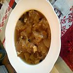 recette soupe dans l'eau de cuisson des chou fleur au pain et gruyère
