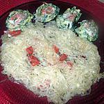 recette roulé d épinards  au saumon ,,yaourt a la grecque  sur une idée de philo