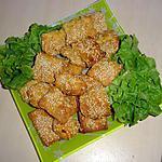 recette Feuilleté au chorizo / sésame (apéritif)