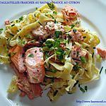 recette TAGLIATELLES FRAICHES AU SAUMON SAUCE AU CITRON