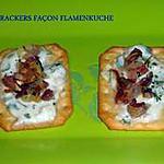 recette CRACKERS FAÇON FLAMENKUCHE
