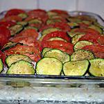 recette Gratin de riz aux tomates et aux courgettes