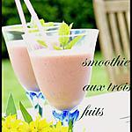 smoothie aux trois fruits