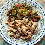 recette Légumes d'automne, émincé de poulet .