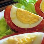 recette Tomate tricolore à l'oeuf dur