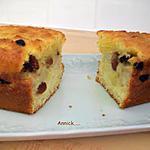 recette cake-pomme-banane-raisins secs