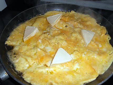 Omelette a la vache qui rit 430