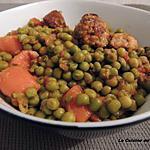 recette Petits pois au chorizo & saucisses