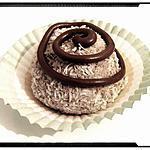 recette boule de neige mousse au chocolat-coco au coeur guimauve
