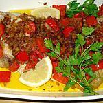 recette Aile de raie au poivron rouge
