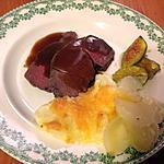 recette Rôti de Marcassin aux figues, sauce au pain d'épice