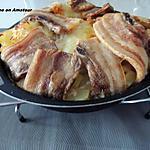 recette Tourte pommes de terre, tranches de lard