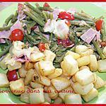 recette Gratin haricot verts jambon & tomate
