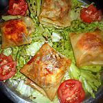 recette Bricks au chevre , oignons et paprika
