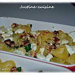 recette Gratin de pâtes aux courgettes, chèvre frais et noix