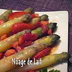 recette Asperges blanches à la Vinaigrette de Fraises