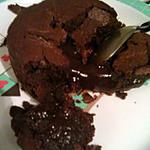 recette Moelleux chocolat cœur nutella