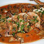 recette Filet mignon de porc au paprika fumé et aux champignons de paris