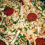 recette Tagliatelles au chorizo et au fromage