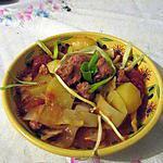 recette potée facon goulash de saucisse  version soupe gratinée