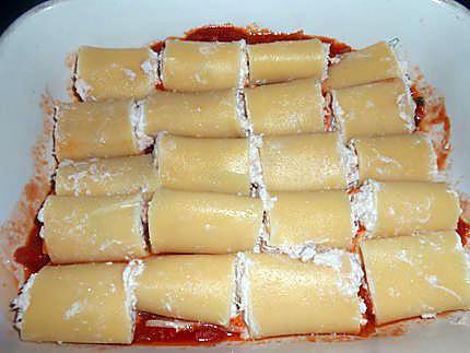 Pâtes farcies ricotta thon 430